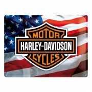 Harley Davidson muurplaat met de Amerikaanse vlag