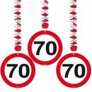 70e verjaardag versiering