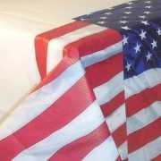 USA tafelkleed van papier 137 x 259 cm