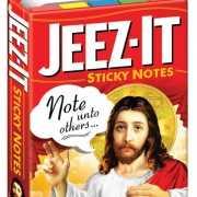 Grappige post its met Jezus
