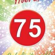 75 jaar verjaardag poster