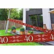 Rode markeerlint 40 jaar 15 meter