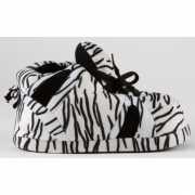 Dames sportschoen pantoffels zebra zwart/wit