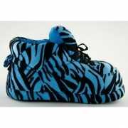 Dames sportschoen pantoffels tijger blauw
