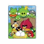 Fleece plaid Angry Birds groen 120 x 140 cm