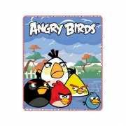 Fleece plaid Angry Birds blauw 120 x 140 cm