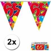 65 jaar vlaggenlijnen 2x met gratis sticker