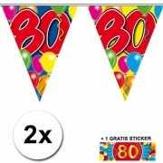 80 jaar vlaggenlijnen 2x met gratis sticker