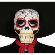 Doodskop maskers met spinnenweb decoratie