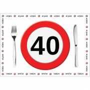 10 placemats 40 jaar van papier