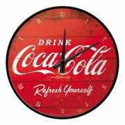 Metalen muurklok Coca Cola 31 cm