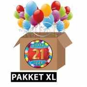21 jaar feestartikelen pakket XL