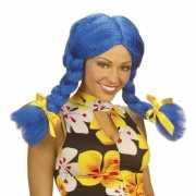 Dolly pruik in het blauw