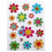 Decoratie stickers bloemen 16 stuks