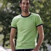 T shirt met contrastrandje