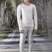 Wit kinder thermo ondergoed shirt