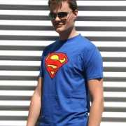 Blauwe Superman t shirts