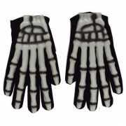 Zwarte skelet handschoentjes