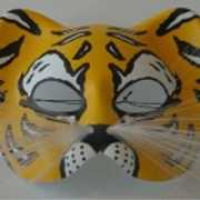 Kunstof gezichtsmasker tijger