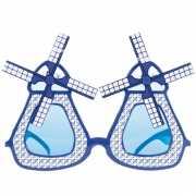 Delfts blauwe bril met molen wieken