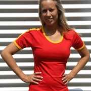Spaanse kleuren shirt voor vrouwen