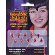 Plak juwelen bloeddruppels 10 stuks