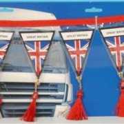 Auto mini vlaggenlijn Engeland 60 cm
