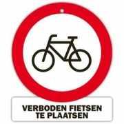 Bordje Verboden fietsen te plaatsen