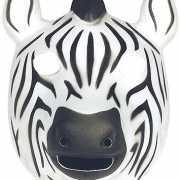 Zacht zebra masker foam
