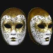 Wandversiering deco goud masker