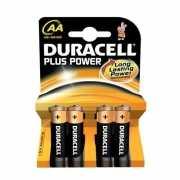 Vier Duracell AA batterijen