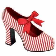 Mary Jane rood met witte pumps