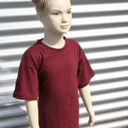 Bordeaux rood t shirt voor kinderen