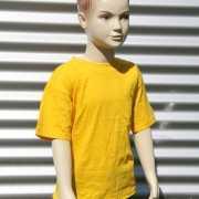 Goud gele t shirt voor kinderen