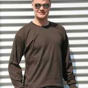 Gildan t shirt lange mouwen bruin