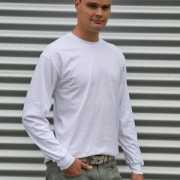 Gildan t shirt lange mouwen wit