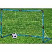 Blauwe voetbal goal inclusief bal
