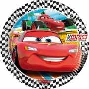 Kartonnen Cars feestborden 8 stuks