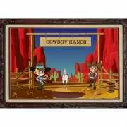 Deurposter western thema cowboy ranch