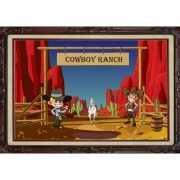 Deurposter western thema cowboy ranch