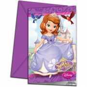 Sofia het prinsesje thema uitnodigingen 6 stuks