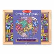 Kinder kralen pakket met vlinders