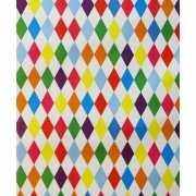 Cadeaupapier gekleurde ruiten 70x200 cm