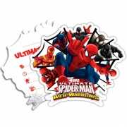 Spiderman Warriors thema uitnodigingen 6 stuks