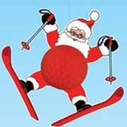 Kerstman hangversiering 50 cm brandvertragend