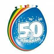 Gekleurde ballonnen 50 jaar Abraham