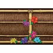 Bamboe wand decoratie