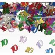 Gekleurde 10 confetti decoratie