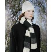 Casual sjaal grijs met wit
