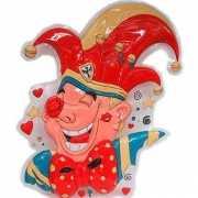 Carnaval clown wand decoratie